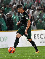 BOGOTA - COLOMBIA -25-02-2017: Joaquin Aguirre, jugador de La Equidad, en acción, durante partido entre La Equidad y Atletico Nacional, por la fecha 5 de la Liga Aguila I-2017, jugado en el estadio Nemesio Camacho El Campin de la ciudad de Bogota. / Joaquin Aguirre, player of La Equidad, in action, during a match between La Equidad and Atletico Nacional, for the  date 5 of the Liga Aguila I-2017 at the Nemesio Camacho El Campin Stadium in Bogota city, Photo: VizzorImage  / Luis Ramirez / Staff.