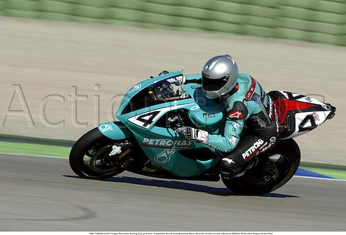 TROY CORSER (AUS), Foggy Petronas, during free practice, Superbike World Championship Race, Ricardo Tormo Circuit, Valencia, 030228. Photo:Neil Tingle/Action Plus ...2003  .man men superbikes motorcycle motorcycles bike bikes..     . ...  ..