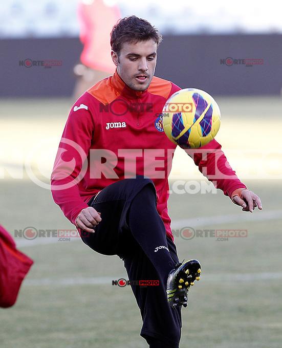 Getafe's Pedro Leon during training session.December 05,2012.(ALTERPHOTOS/Acero) /NortePhoto
