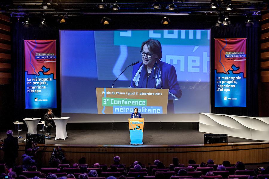 3ème conférence Métropolitaine Aix-Marseille-Provence sous la présidence de Marylise Lebranchu, Ministre de la Réforme de l'Etat de la décentralisation et de la Fonction Publique - 11 décembre 2014 - Palais du Pharo - Marseille