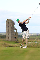 Mark Ryan (Grange) on the 13th tee during Round 2 of The South of Ireland in Lahinch Golf Club on Sunday 27th July 2014.<br /> Picture:  Thos Caffrey / www.golffile.ie