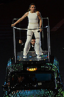 Spice Girls.Melanie Chisholm aka Sporty Spice (white).Londra 12/08/2012 Olympic Stadium.London 2012 Olympic Games Closing Ceremony.Olimpiadi Londra 2012 Cerimonia d chiusura.Foto Insidefoto Augusto Bizzi.