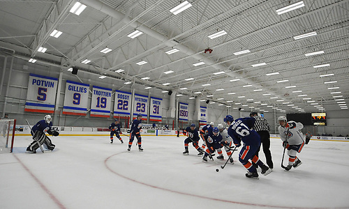 New York Islanders prospects play in the final scrimmage of the team's Mini Camp at Northwell Health Ice Center in East Meadow on Saturday, June 30, 2018.