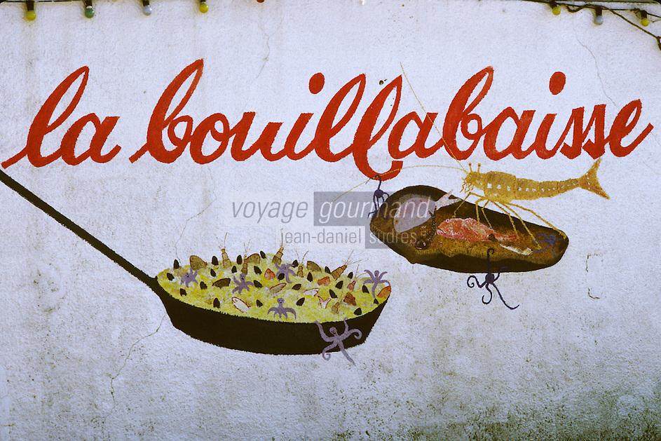 Europe/France/Provence-Alpes-Côte d'Azur/83/Var/Cavalaire-sur-Mer: Detail de la façade d'un restaurant - peinture