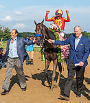 #6 McKinzie ridden by Mike Smith wins the Whitney Stakes. Aug. 3 2109 :during racing at Saratoga Race Course in Saratoga Springs, New York. Robert Simmons/Eclipse Sportswire/CSM