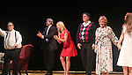 """Curtain Call: Robert Forester -  Grant Aleksander - Cynthia Watros - Michael O'Leary - Tina Sloan - Emma Gilliland - Guiding Light's Michael O'Leary author of """"Breathing Under Dirt"""" - full play - had its world premier on August 13 and 14, 2016 at the Ella Fitzgerald Performing Arts Center, University of Maryland Eastern Shore, Princess Anne, Maryland  (Photo by Sue Coflin/Max Photos)"""