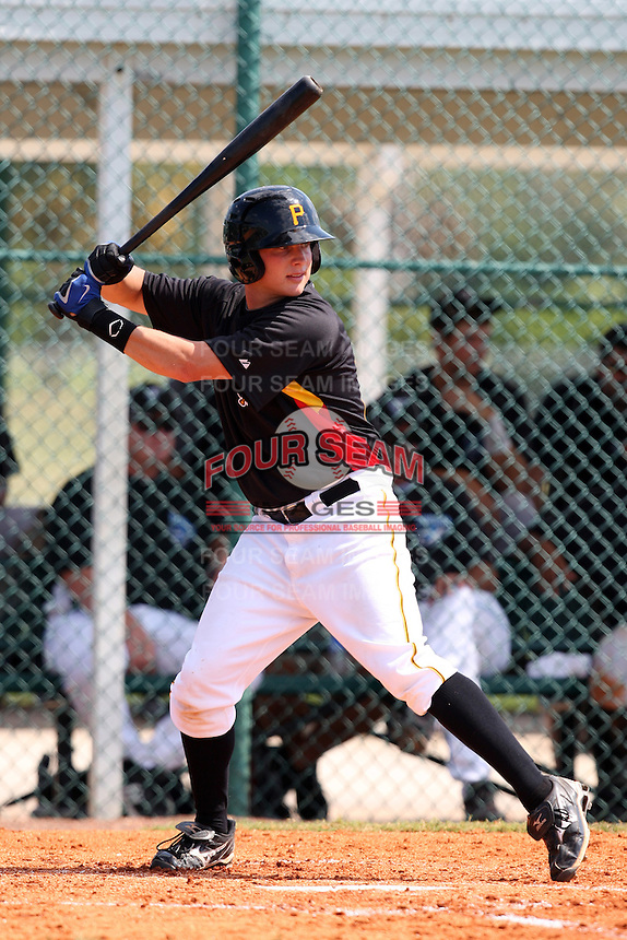 Pittsburgh Pirates minor league outfielder Chase Lyles vs. the Toronto Blue Jays during an Instructional League game at Pirate City in Bradenton, Florida;  October 11, 2010.  Photo By Mike Janes/Four Seam Images