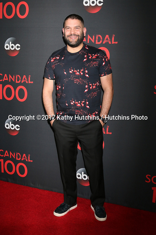 """LOS ANGELES - APR 8:  Guillermo Diaz at the """"Scandal"""" 100th Show Party at Fig & Olive Resturant on April 8, 2017 in West Hollywood, CA"""