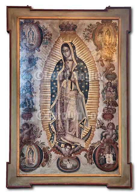 Historic icon of Our Lady of Guadalupe, Carmel Mission, California.