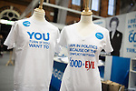 © Joel Goodman - 07973 332324 . No syndication permitted . 30/09/2013 . Manchester , UK . Margaret Thatcher slogan t-shirts . Products for sale in the exhibition this morning (Monday 30th September 2013) . Day 2 of the Conservative Party Conference 2013 at Manchester Central . Photo credit : Joel Goodman