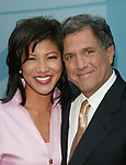 Julie Chen & Leslie Moonves attending the CBS TV Network 2004-2005 Upfront Announcements at Tavern on the Green in New York City.<br />