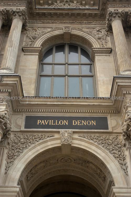 8/6/2004--Paris, France..Exterior view of the Pavillion Denon at the Louvre Museum in Paris..Photograph by Stuart Isett
