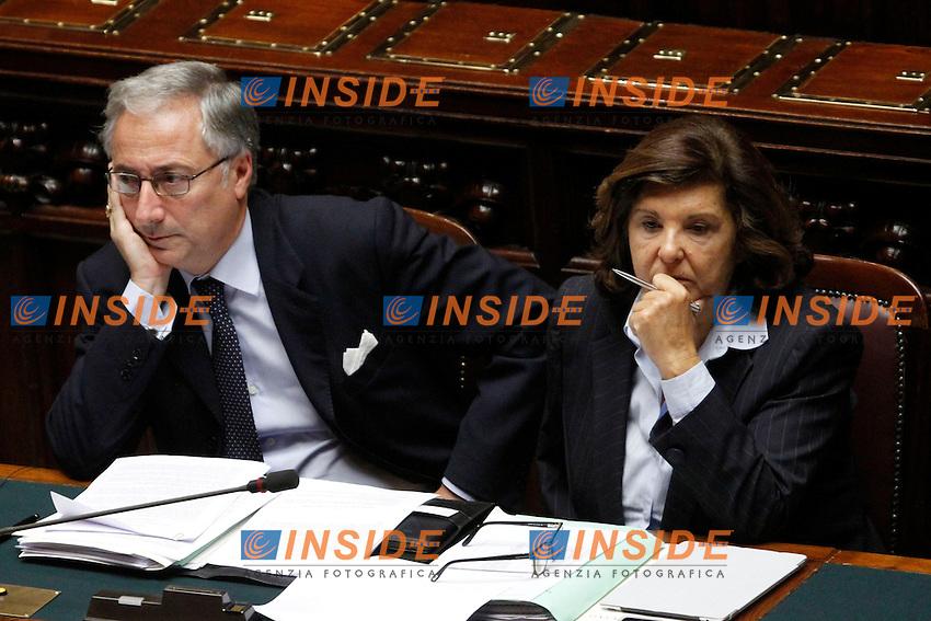 Filippo Patroni Griffi e Paola Severino.Roma 30/10/2012 Camera. Voto di fiducia sul DDL Anticorruzione..Photo Samantha Zucchi Insidefoto