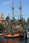 "SAILING SHIP COLUMBIA at ""PIRATES COVE"", DISNEYLAND"