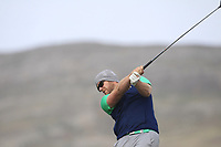 Peter O'Keeffe from Ireland on the 4th tee during Round 2 Singles of the Men's Home Internationals 2018 at Conwy Golf Club, Conwy, Wales on Thursday 13th September 2018.<br /> Picture: Thos Caffrey / Golffile<br /> <br /> All photo usage must carry mandatory copyright credit (&copy; Golffile | Thos Caffrey)