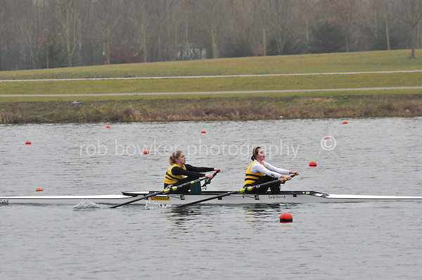 293 Christchurch RC W.J17A.2x..Marlow Regatta Committee Thames Valley Trial Head. 1900m at Dorney Lake/Eton College Rowing Centre, Dorney, Buckinghamshire. Sunday 29 January 2012. Run over three divisions.