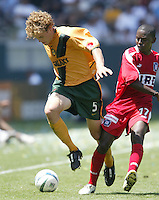 12 June 2004: Galaxy Chris Albright in action against Chicago Fire at Home Depot Center in Los Angeles, California.    Los Angeles defeated Chicago Fire, 3-2.  Mandatory Credit: Michael Pimentel / ISI
