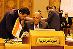 Arab Foreign Ministers attend a meeting to discuss a French peace initiative in Cairo on May 28, 2016. Photo by Egyptian President Office