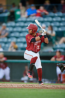 Altoona Curve center fielder Jason Martin (23) at bat during a game against the Richmond Flying Squirrels on May 15, 2018 at Peoples Natural Gas Field in Altoona, Pennsylvania.  Altoona defeated Richmond 5-1.  (Mike Janes/Four Seam Images)