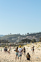 Volleyball at San Buenaventura State Beach. Ventura, California.