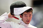 Kazuyasu Minobe (JPN),<br /> AUGUST 8, 2013 - Fencing :<br /> World Fencing Championships Budapest 2013, Men's Individual Epee Round of 64 at Syma Hall in Budapest, Hungary. (Photo by Enrico Calderoni/AFLO SPORT) [0391]