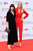 Claudia Winkleman and Tess Daly <br /> at Virgin Media British Academy Television Awards 2019 annual awards ceremony to celebrate the best of British TV, at Royal Festival Hall, London, England on May 12, 2019.<br /> CAP/JOR<br /> &copy;JOR/Capital Pictures