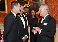 12 March 2019 - London, England - Chiwetel Ejiofor and Girlfriend Frances Aaternir, Luke Evans with Prince Charles, Prince of Wales during a dinner to celebrate The Princes Trust at Buckingham Palace in London. The Prince of Wales, President, The Princes Trust Group hosted a  dinner for donors, supporters and ambassadors of Princes Trust International. Photo Credit: ALPR/AdMedia