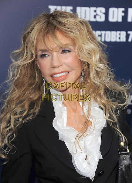 Dyan Cannon.The L.A. Premiere of 'The Ides of March' held at The Academy of Motion Picture Arts & Sciences  in Beverly Hills, California, USA..September 27th, 2011.headshot portrait black white ruffle blouse.CAP/RKE/DVS.©DVS/RockinExposures/Capital Pictures.