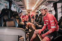 John Degenkolb (DEU/Trek-Segafredo) in the teambus ahead of the first race of the new season<br /> <br /> 27th Challenge Ciclista Mallorca 2018<br /> Trofeo Campos-Porreres-Felanitx-Ses Salines: 176km