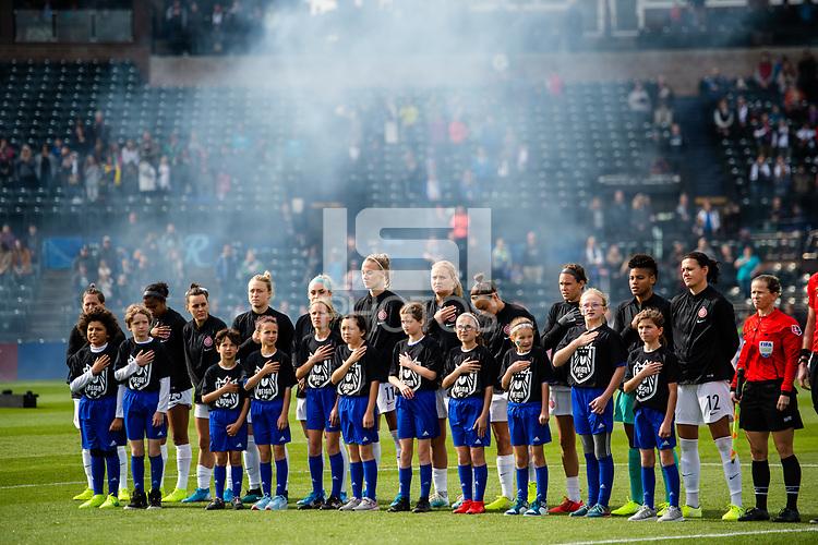 Tacoma, WA - Sunday, September 29, 2019: Reign FC vs Portland Thorns at Cheney Stadium.