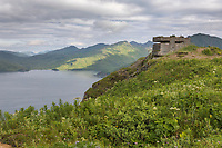 Battery Command Center, Aleutians world war II national historic area, Mt. Ballyhoo, Amaknak Island, Dutch Harbor, Aleutian Islands.