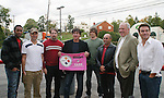 Guiding Light's actors - Lawrence Saint-Victor, Daniel Cosgrove, Frank Dicopoulos, Zack Conroy and Kurt McKinney on October 1, 2009 in Pittsburgh, PA area as the actors visit Moon Township Honda after going to the various GO PINK Panera Bread locations. Proceeds from pink ribbon bagel sales will benefit the Young Women's Breast Cancer Awareness Foundation. (Photo by Sue Coflin/Max Photos)
