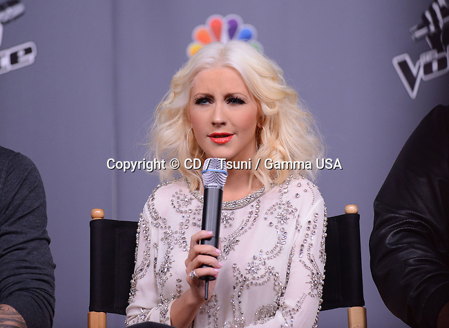 Christina Aguilera  at The VOICE Season 5 on the NBC Stage in Los Angeles.