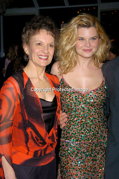 "Phyllis Frelich, Heather Tom ..at The Broadway opening of ""Prymate"" on May 5, 2004 ..starring Heather Tom, Phyllis Frelich, Andre De Shields and ..James Naughton at Tavern on The Green   in New York City. ..Photo by Robin Platzer, Twin Images"
