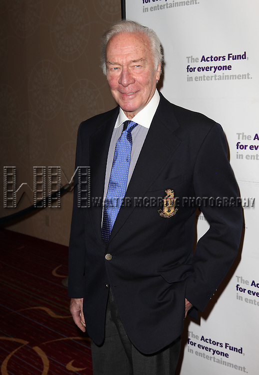 Christopher Plummer.attending the Actors Fund Gala honoring Harry Belafonte, Jerry Stiller, Anne Meara & David Steiner at the Mariott Marquis Hotel in New York City on 5/21/12