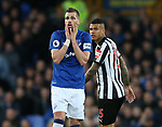 Morgan Schneiderlin of Everton reacts during the premier league match at Goodison Park Stadium, Liverpool. Picture date 23rd April 2018. Picture credit should read: Simon Bellis/Sportimage