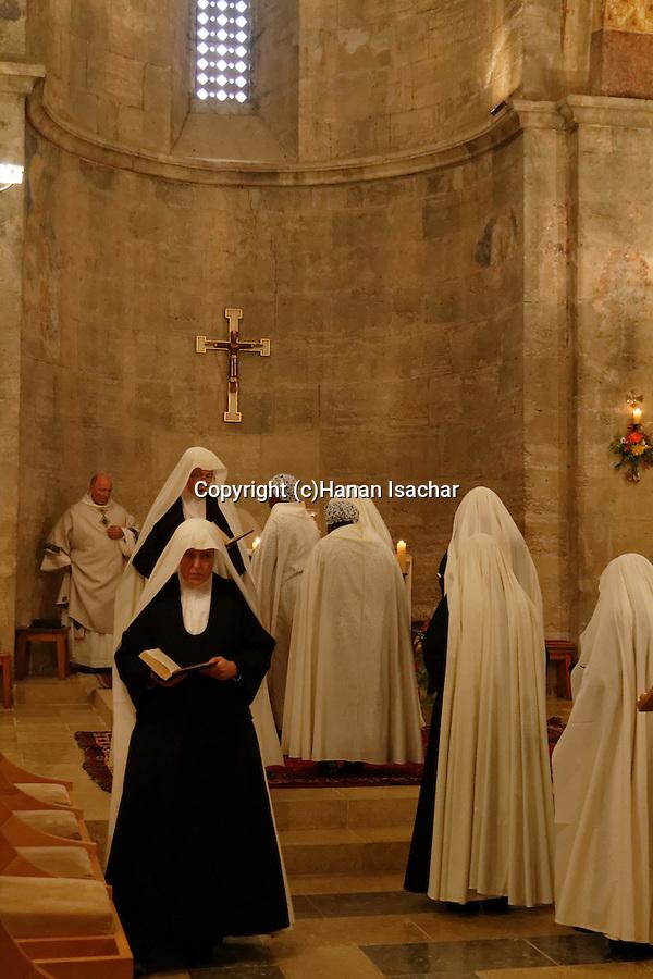 Israel, Christmas  at the Benedictine Crusader Church in Abu Gosh