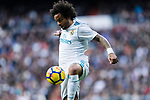 Marcelo Vieira Da Silva of Real Madrid in action during the La Liga 2017-18 match between Real Madrid and Sevilla FC at Santiago Bernabeu Stadium on 09 December 2017 in Madrid, Spain. Photo by Diego Souto / Power Sport Images