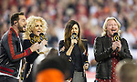 The country music recording group Little Big Town sang the National Anthem before the 2017 College Football Playoff National Championship game between Clemson Tigers and Alabama Crimson Tide in Tampa, Florida on January 9, 2017.  Photo by Mark Wallheiser/UPI