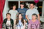 Lauren Sheehan from Banna, Ardfert celebrating her 21st with family at DB's of Dennys Lane on Saturday night. Front l-r  Kathleen Harris, Lauren Sheehan, Chris Sheehan, Kay Sheehan, Cathal Sheehan and Walter Sheehan.