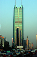 The Di Wang Commercial Building is China's second tallest and towers above downtown Shenzhen in South China. Shenzhen is China's oldest new city, it is the city that was the experimental are for Deng's economic reforms and is one of the richest and most modern cities in China..
