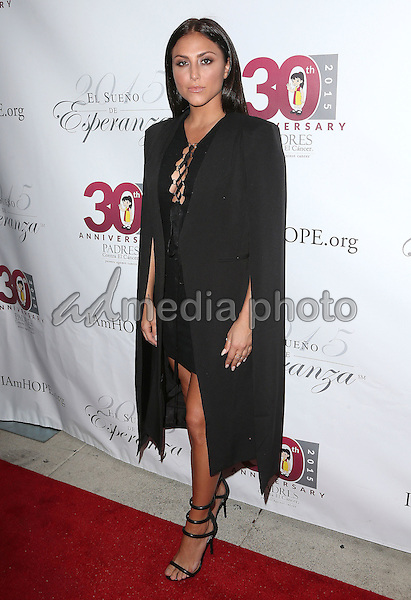 17 September 2015 - Hollywood, California - Cassie Scerbo<br /> <br /> . Padres Contra El Cancer's 15th Annual &quot;El Sueno De Esperanza&quot; held at Boulevard3. Photo Credit: F. Sadou/AdMedia