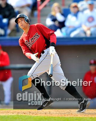 4 March 2012: Houston Astros' outfielder George Springer in action against the Washington Nationals at Space Coast Stadium in Viera, Florida. The Astros defeated the Nationals 10-2 in Grapefruit League action. Mandatory Credit: Ed Wolfstein Photo