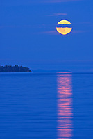 Full moon rising over Lake Superior<br />Rossport<br />Ontario<br />Canada