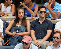 FLUSHING NY- SEPTEMBER 09: Justin Bartha is sighted watching Novak Djokovic Vs Gael Monfils during the mens semi finals on Arthur Ashe Stadium at the USTA Billie Jean King National Tennis Center on September 9, 2016 in Flushing Queens. Credit: mpi04/MediaPunch