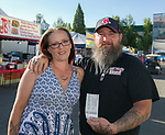 Amber and Lance during the Reno Rodeo Concert on Wednesday night, June 19, 2019.