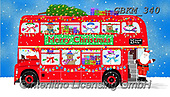 Kate, CHRISTMAS SANTA, SNOWMAN, WEIHNACHTSMÄNNER, SCHNEEMÄNNER, PAPÁ NOEL, MUÑECOS DE NIEVE, paintings+++++London bus passenger side revised 3,GBKM340,#x# ,bus