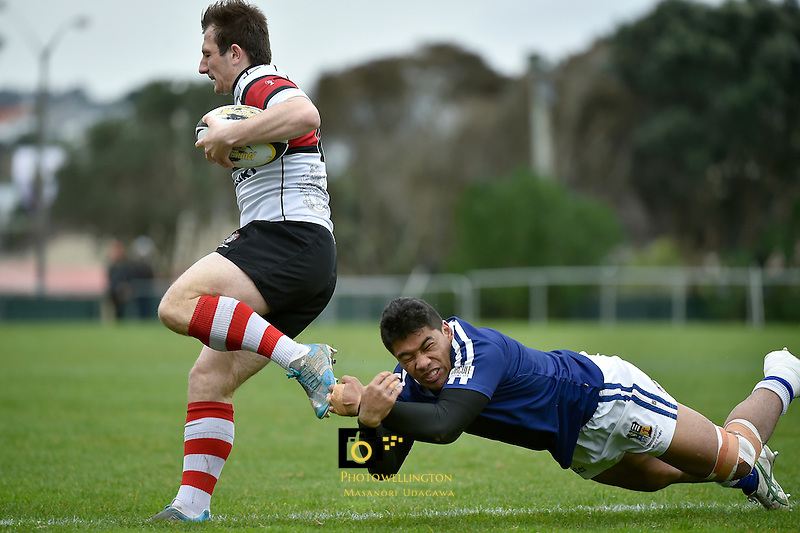 Action from the Hurricanes College Rugby Final - St Pat's Wellington v Scots College at Porirua Park, Porirua, New Zealand on Saturday 29 August 2015.<br /> Photo by Masanori Udagawa. www.photowellington.photoshelter.com.