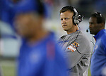 Boise State's Head Coach Bryan Harsin watches his players play against Nevada during the second half of an NCAA college football game in Reno, Nev, on Saturday, Oct. 4, 2014. (AP Photo/Cathleen Allison)