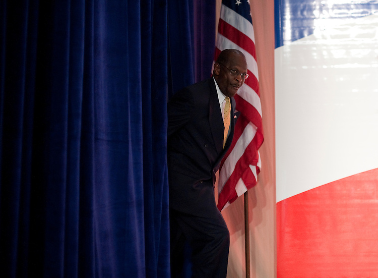 UNITED STATES – OCTOBER 7: Presidential candidate Herman Cain arrives to speak at the Family Research Council's Values Voter Summit in Washington on Friday, Oct. 7, 2011. (Photo By Bill Clark/CQ Roll Call)